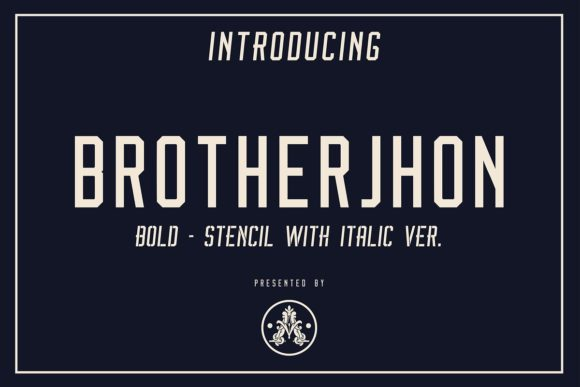 Print on Demand: Brother Jhon Duo Display Font By Arthy
