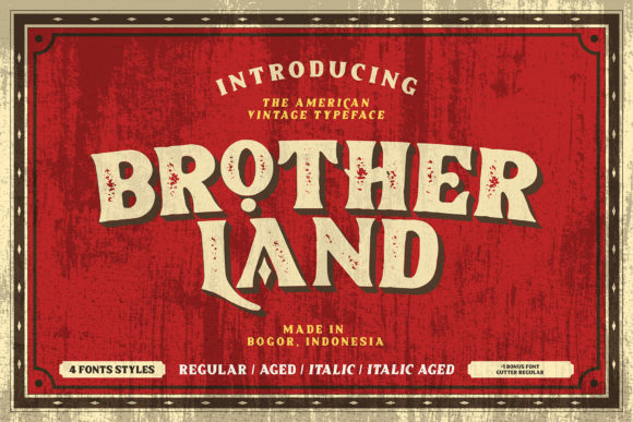 Print on Demand: Brotherland Display Font By Dikas Studio