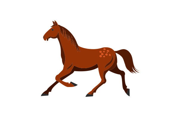 Brown Colored Horse Horse & Equestrian Craft Cut File By Creative Fabrica Crafts