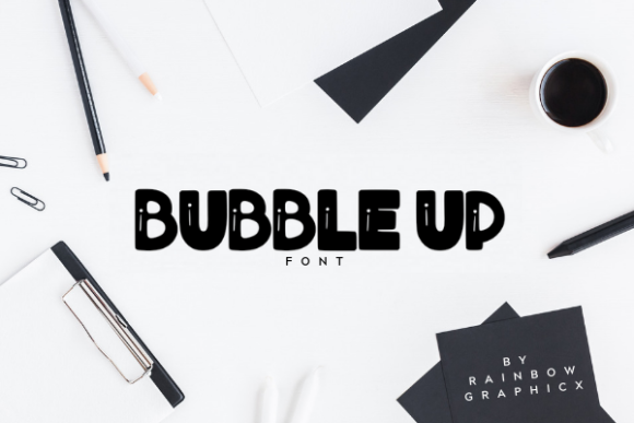 Print on Demand: Bubble Up Slab Serif Font By RainbowGraphicx