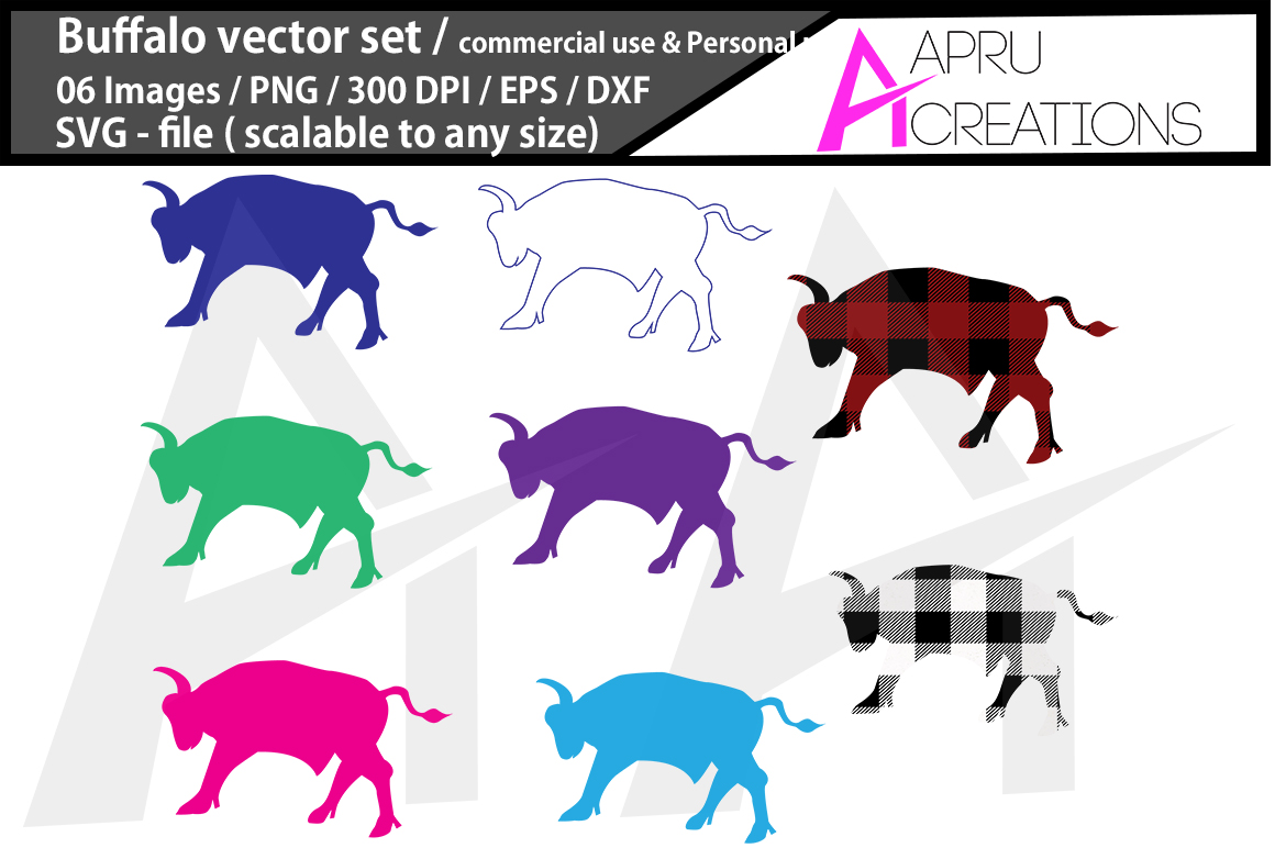 Download Free Buffalo Silhouette Graphic By Aparnastjp Creative Fabrica for Cricut Explore, Silhouette and other cutting machines.