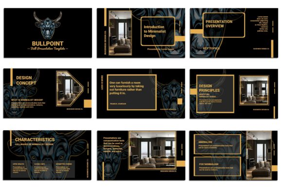 Print on Demand: BullPoint PowerPoint Presentation Graphic Presentation Templates By Gblack Id - Image 2