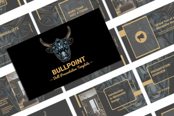 Print on Demand: BullPoint PowerPoint Presentation Graphic Presentation Templates By Gblack Id - Image 1