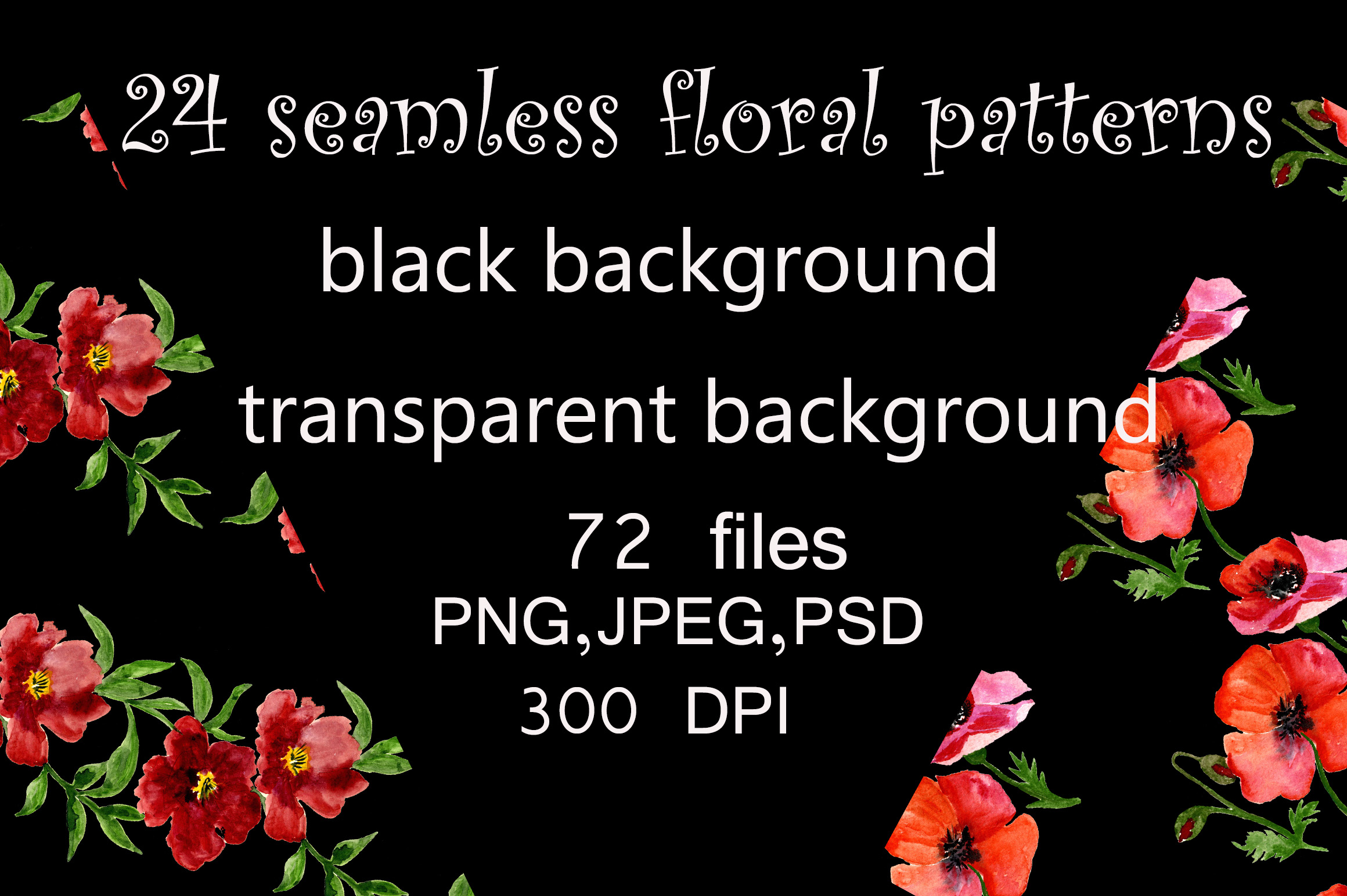 Bundle Seamless Floral Patterns Graphic By Kakva Creative Fabrica