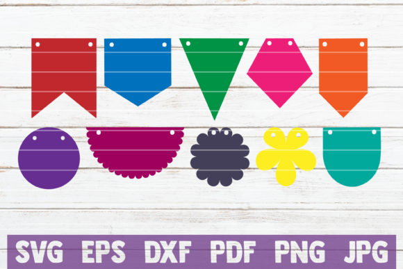 Bunting Banners Bundle | Cut Files Graphic Crafts By MintyMarshmallows