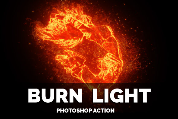 Burn Light Photoshop Action Graphic Add-ons By jubair_haider