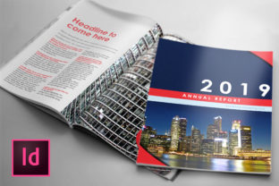 Business Annual Report Template Graphic By denestudios