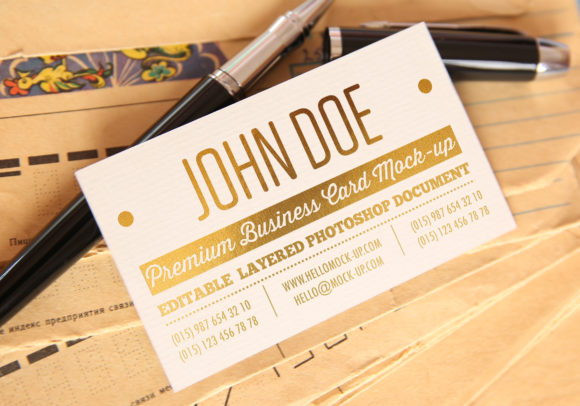 Print on Demand: Business Card Template Mock-ups Graphic Product Mockups By bywahtung