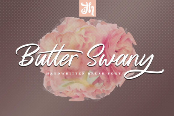 Print on Demand: Butter Swany Script & Handwritten Font By feydesign