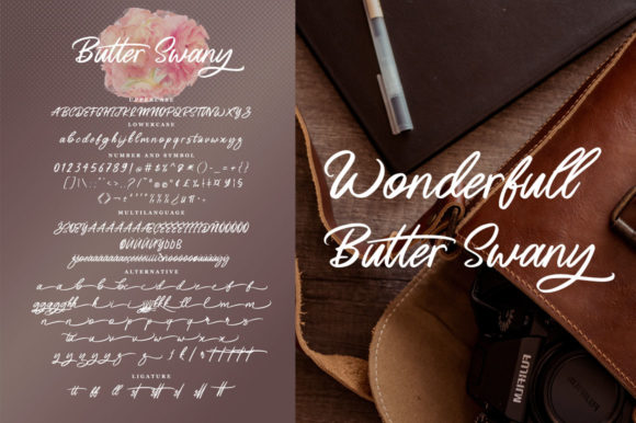 Print on Demand: Butter Swany Script & Handwritten Font By feydesign - Image 8
