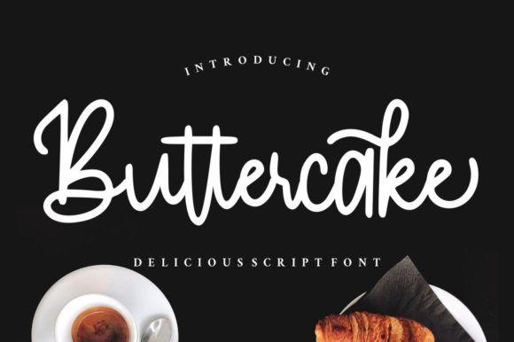 Print on Demand: Buttercake Script & Handwritten Font By goodjavastudio