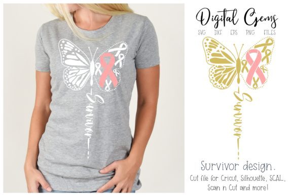 Butterfly Breast Cancer Survivor Graphic By Digital Gems