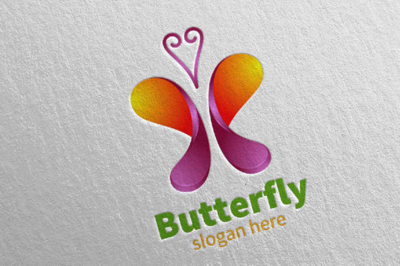 Download Free Butterfly Logo Vol 12 Graphic By Denayunecf Creative Fabrica for Cricut Explore, Silhouette and other cutting machines.