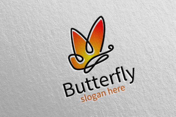 Download Free Butterfly Logo Vol 15 Graphic By Denayunecf Creative Fabrica for Cricut Explore, Silhouette and other cutting machines.