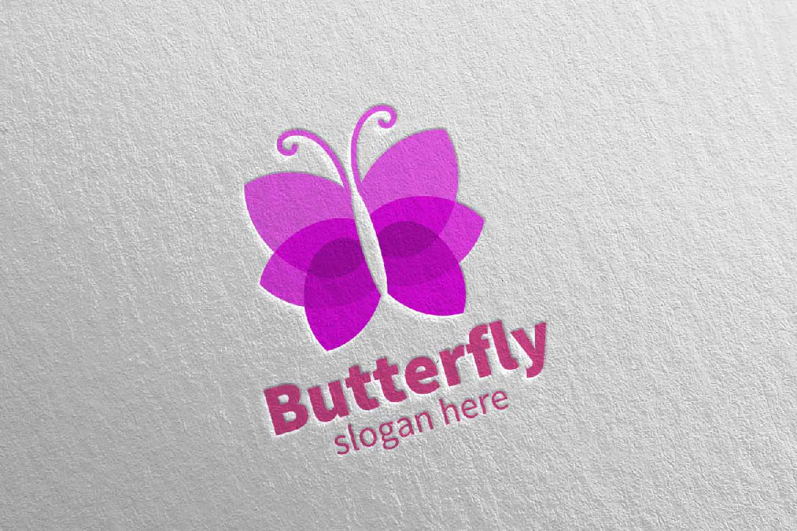Download Free Butterfly Logo Vol 18 Graphic By Denayunecf Creative Fabrica for Cricut Explore, Silhouette and other cutting machines.