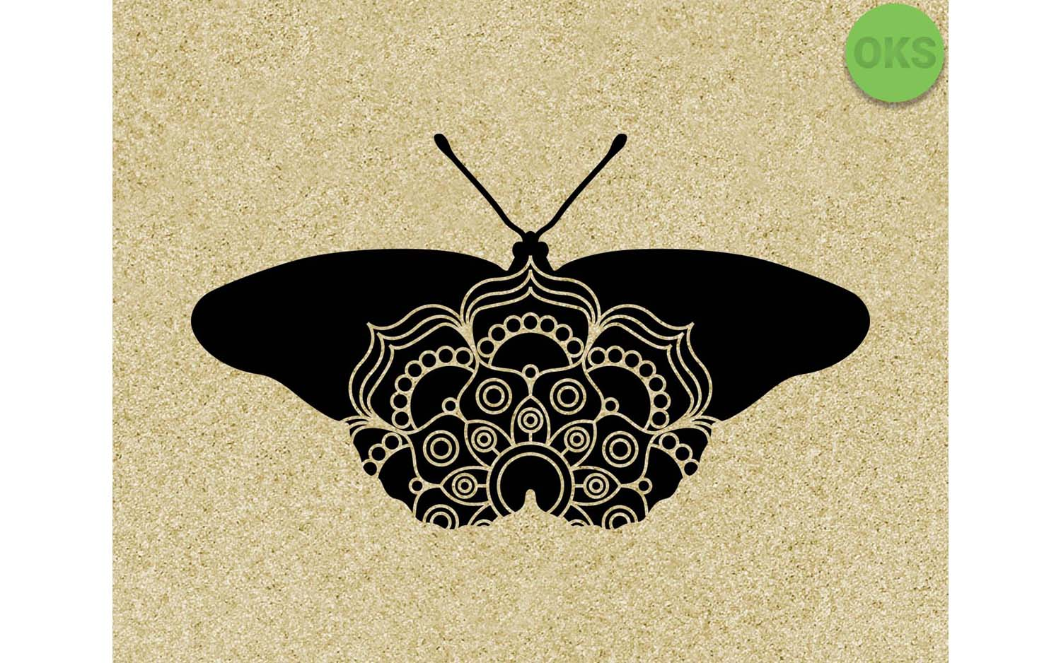 Download Free Butterfly Mandala Graphic By Crafteroks Creative Fabrica for Cricut Explore, Silhouette and other cutting machines.