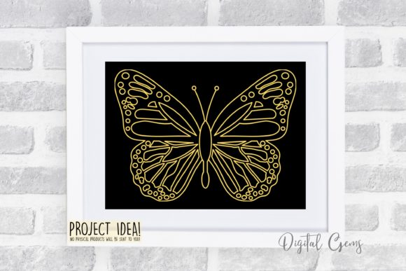 Butterfly Sketch Graphic By Digital Gems Image 2