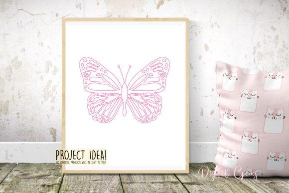 Butterfly Sketch Graphic By Digital Gems Image 3