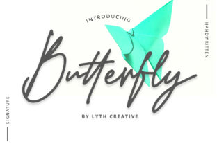 Butterfly Font By lyanatha