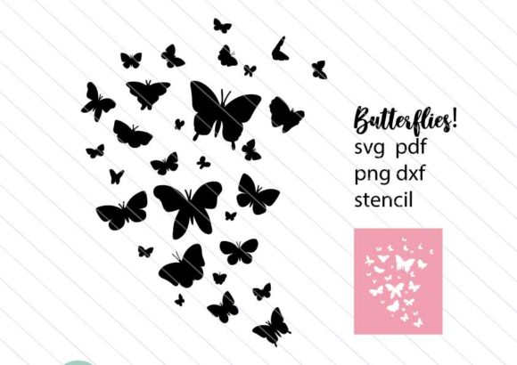 Download Free Butterfly Silhouette Graphic By Betta Mayer Creative Fabrica for Cricut Explore, Silhouette and other cutting machines.