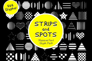 Strips & Spots Font By GraphicsBam Fonts