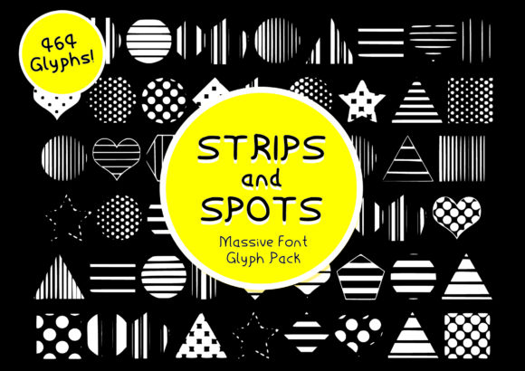 Print on Demand: Strips & Spots Dingbats Font By GraphicsBam Fonts