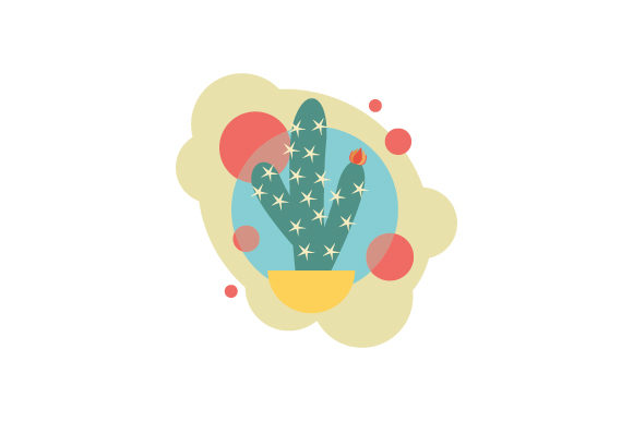 Download Free Cacti Abstract Print Style Svg Cut File By Creative Fabrica for Cricut Explore, Silhouette and other cutting machines.