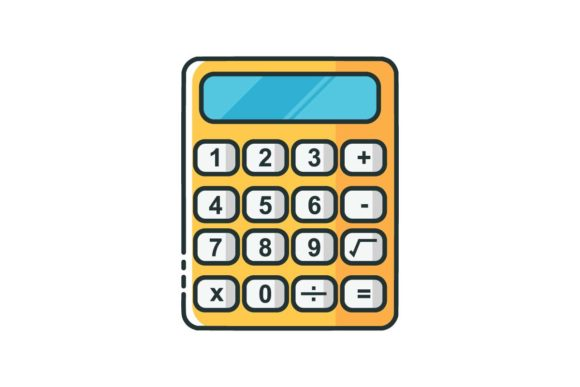 Calculator Line Icon Graphic By Home Sweet