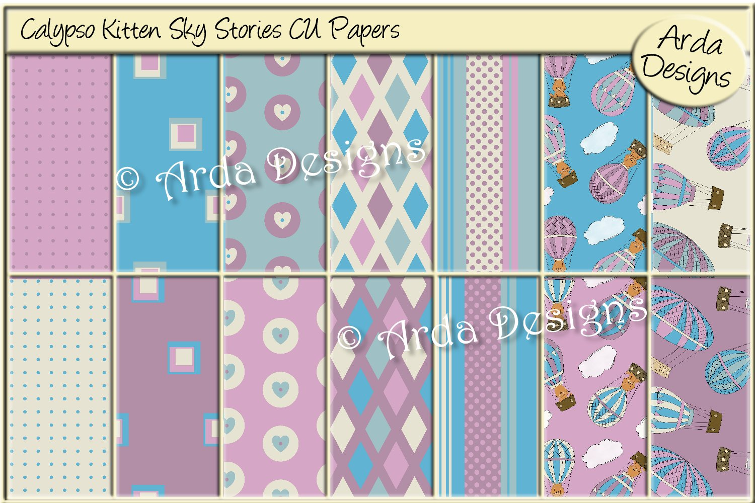 Download Free Calypso Kitten Sky Stories Cu Papers Graphic By Arda Designs for Cricut Explore, Silhouette and other cutting machines.