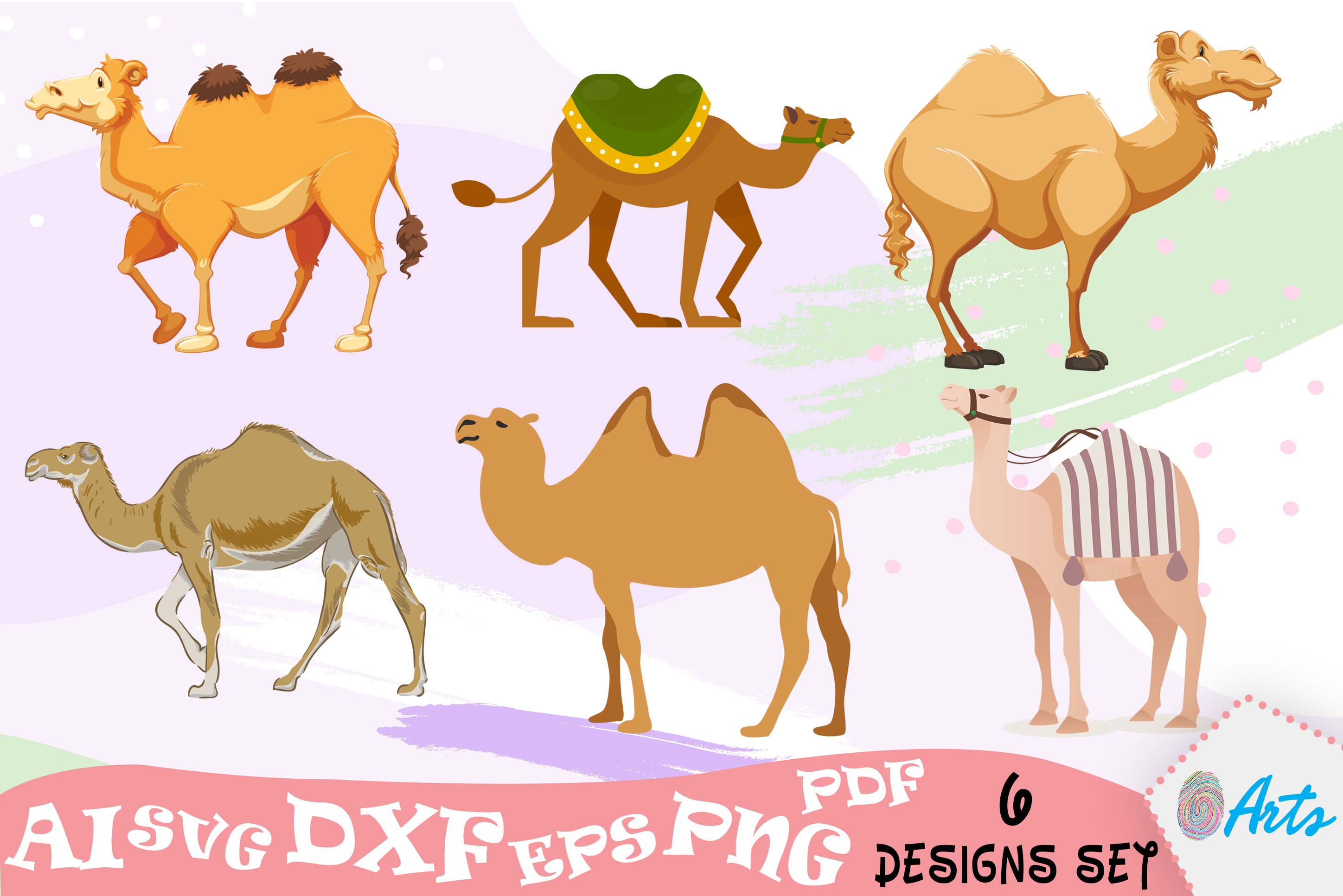 Download Free Camel Clip Art Svg Vector Designs Graphic By Digitemb Creative for Cricut Explore, Silhouette and other cutting machines.