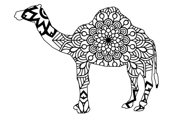 Camel Mandala Line Art Style Animals Craft Cut File By Creative Fabrica Crafts