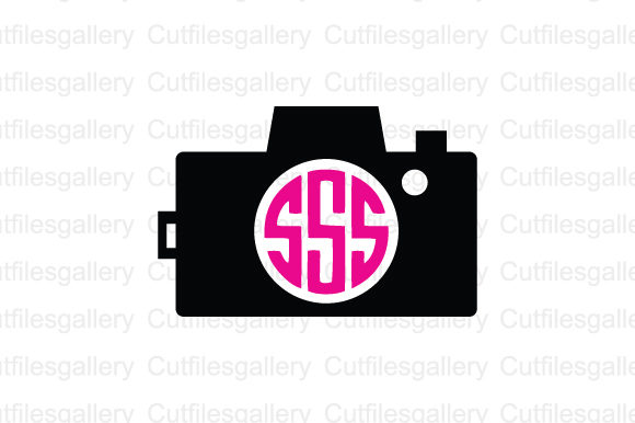 Download Free Camera Monogram Graphic By Cutfilesgallery Creative Fabrica for Cricut Explore, Silhouette and other cutting machines.