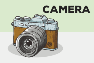 Download Free Camera Vector Background Illustration Graphic By Peterdraw for Cricut Explore, Silhouette and other cutting machines.