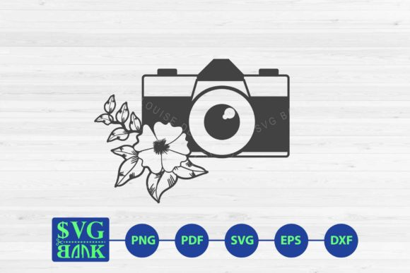 Download Free Camera With Flower Graphic By Svgbank Creative Fabrica for Cricut Explore, Silhouette and other cutting machines.