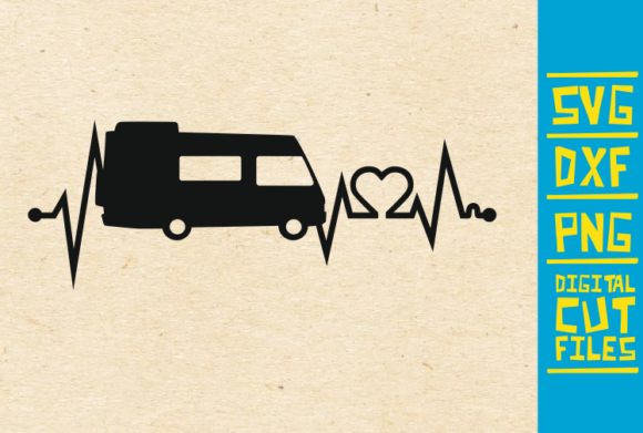 Download Free Camper Heart Beat Camping Travel Graphic By Svgyeahyouknowme for Cricut Explore, Silhouette and other cutting machines.