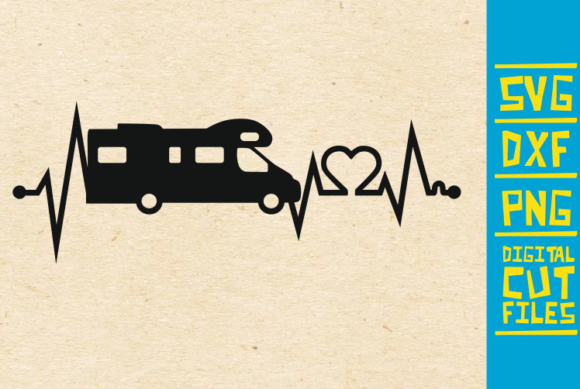 Download Free Camper Heart Beat Camping Graphic By Svgyeahyouknowme Creative for Cricut Explore, Silhouette and other cutting machines.