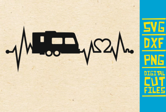 Download Free Camping Heart Beat Motor Home Graphic By Svgyeahyouknowme for Cricut Explore, Silhouette and other cutting machines.