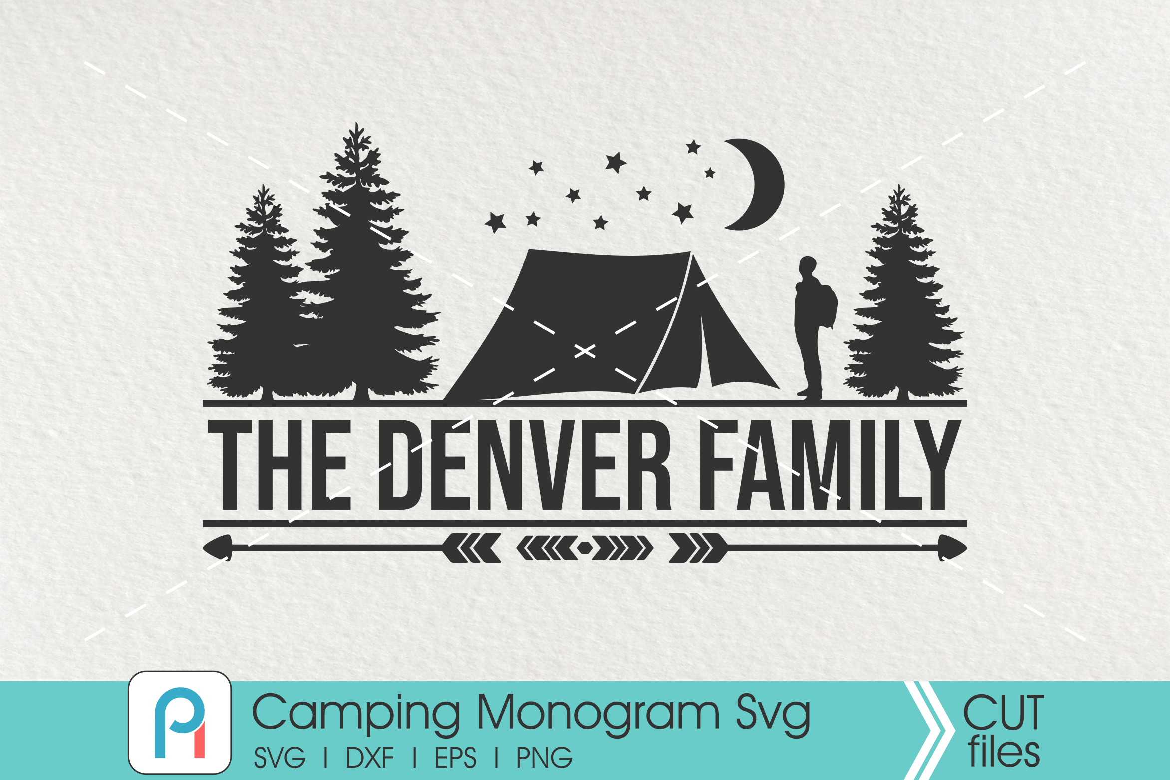 Download Free Camping Monogram Graphic By Pinoyartkreatib Creative Fabrica for Cricut Explore, Silhouette and other cutting machines.