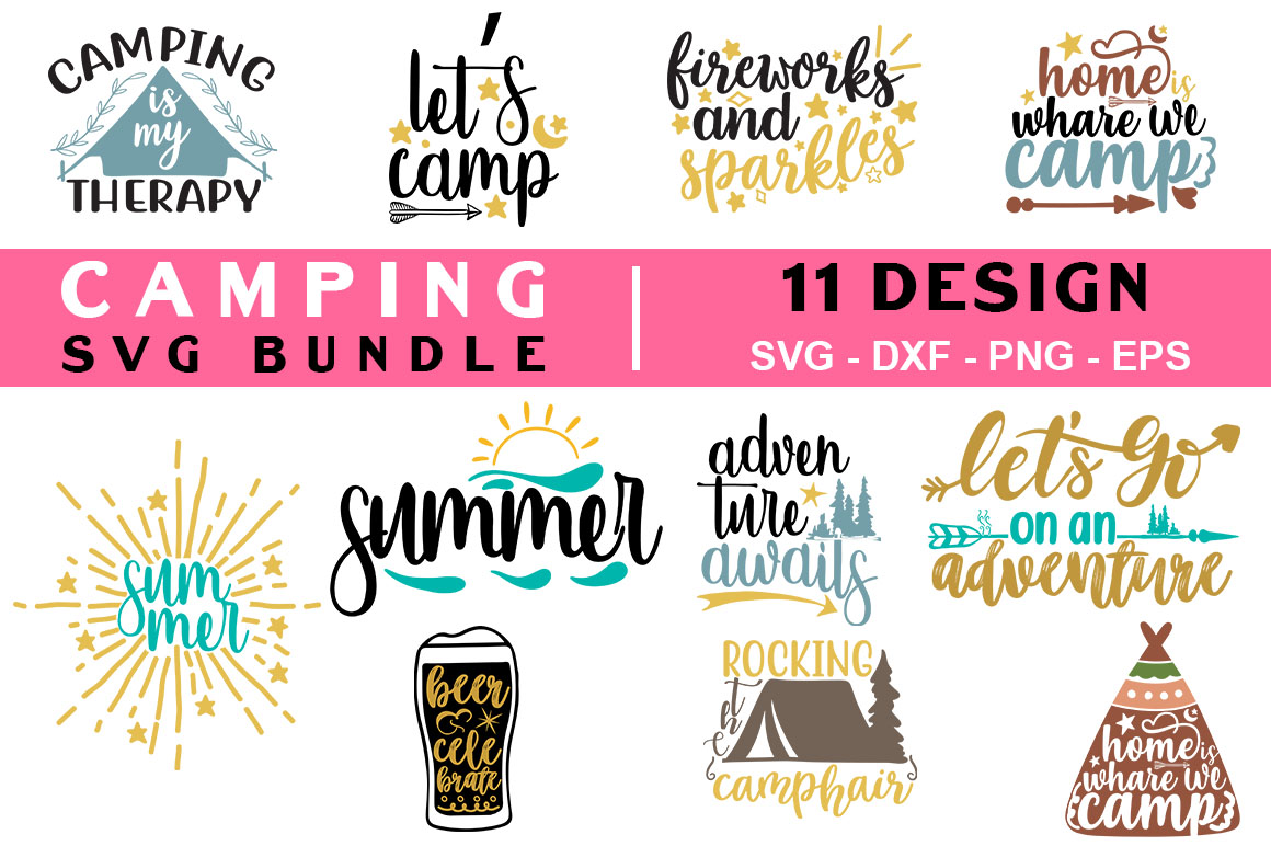 Download Free Camping Bundle Graphic By Handmade Studio Creative Fabrica for Cricut Explore, Silhouette and other cutting machines.