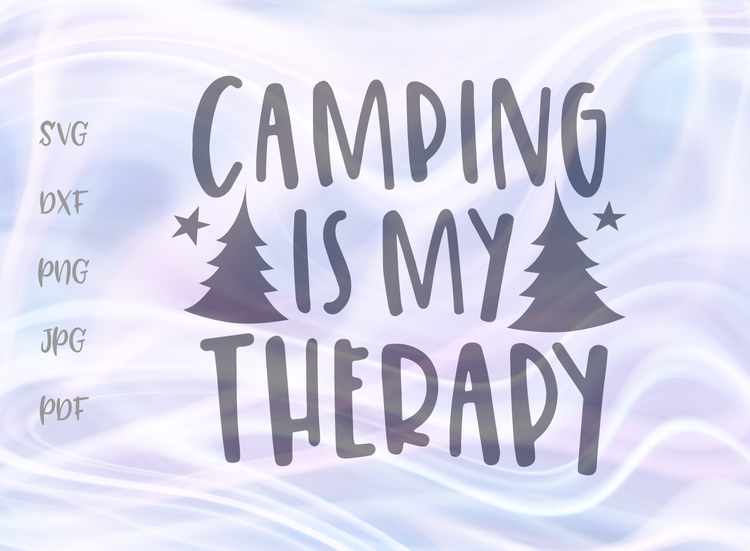 Download Free Camping Is My Therapy Svg Graphic By Digitals By Hanna for Cricut Explore, Silhouette and other cutting machines.