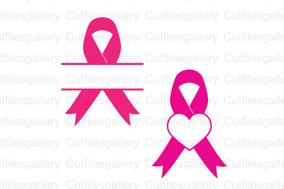 Download Free Cancer Ribbon Monogram Svg Graphic By Cutfilesgallery Creative for Cricut Explore, Silhouette and other cutting machines.