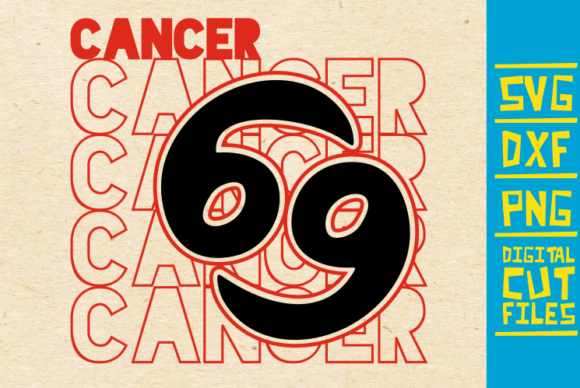 Download Free Cancer Zodiac Sign Graphic By Svgyeahyouknowme Creative Fabrica for Cricut Explore, Silhouette and other cutting machines.