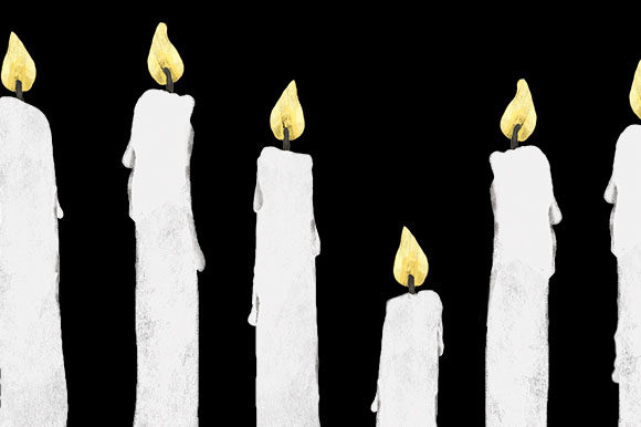 Download Free Candles Border Design Transparent Graphic By Milaski Creative for Cricut Explore, Silhouette and other cutting machines.