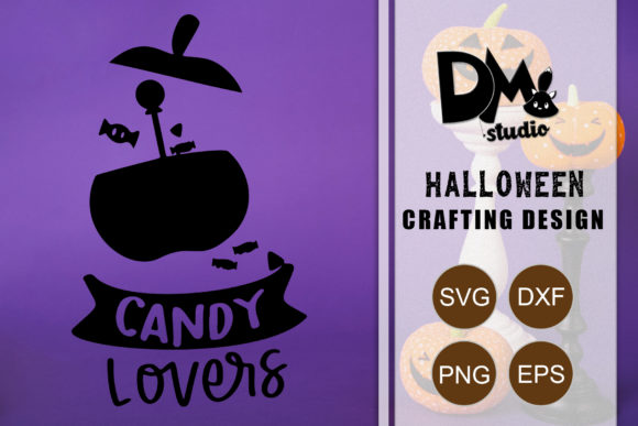 Download Free Candy Lovers Halloween Quote Graphic By Sharon Dmstudio SVG Cut Files