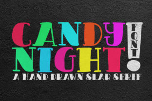 Candy Night Font By FadeLine