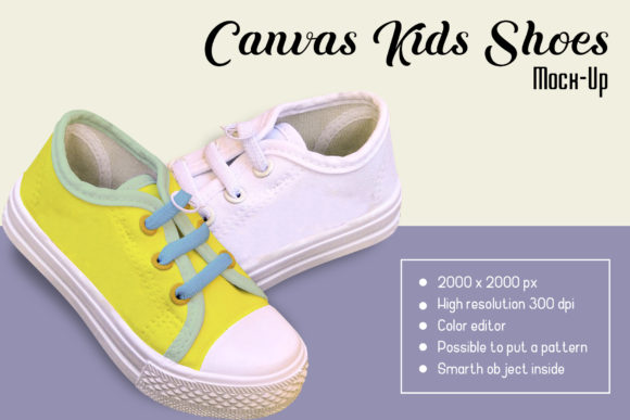 Canvas Kids Shoes Mock-Up Graphic By gumacreative Image 3