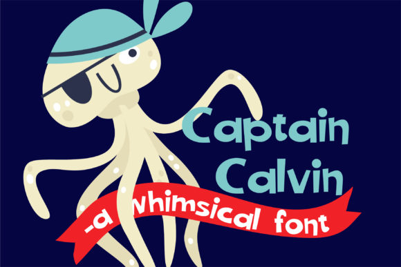 Print on Demand: Captain Calvin Sans Serif Font By Illustration Ink