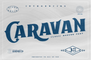 Caravan Font By mrkhoir012