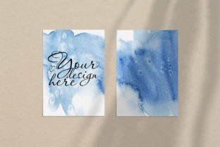 Print on Demand: Card Mockup 5x7 with Curtains Shadow Ove Graphic Product Mockups By Natalia Arkusha