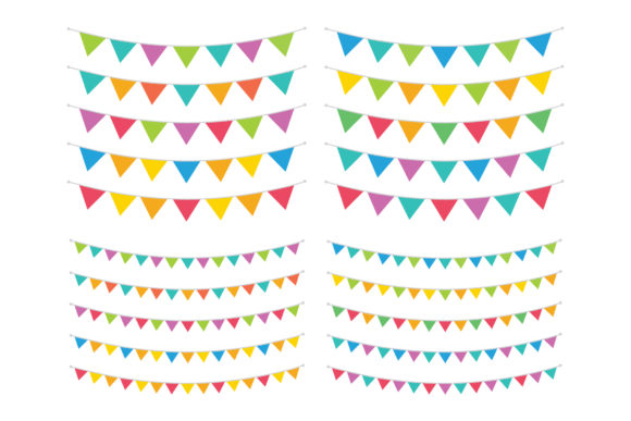 Carnival Triangle Banner Clip Art Graphic By Running With Foxes
